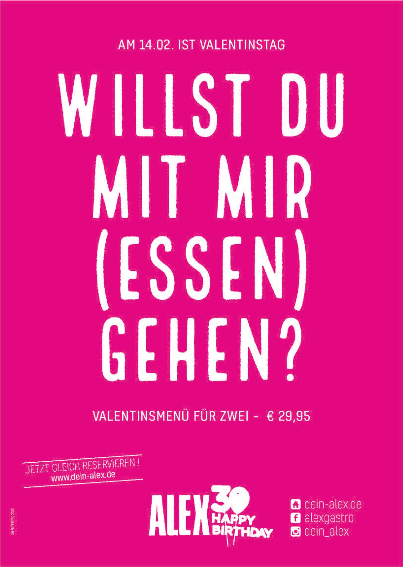 Valentinstag Plakat mit Birthday Logo