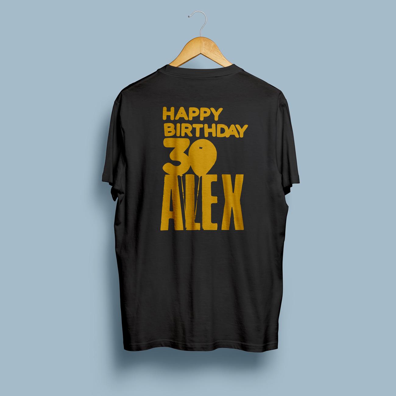 Birthday Shirt schwarz